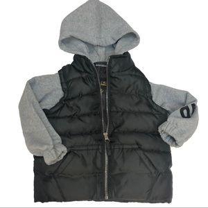 iXtreme Black Puffer Jacket Size 2T Soft Sleeves